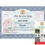 USA Service Dog Registry ESA Letter