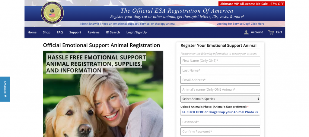 Esa Registration Of America Esa Letter Esa Letter Review